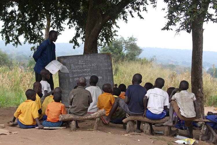 Children learning in Pader District, Northern Uganda